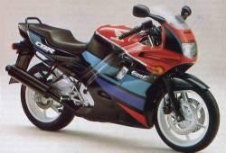 Honda CBR 600 F2 1991 green stickers