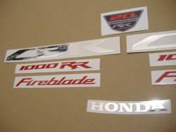 Honda CBR 1000RR 2013 black decals