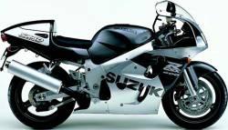 Suzuki 600 1998 silver stickers kit