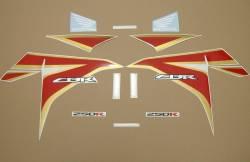 Honda CBR 250R 2012 white stickers kit