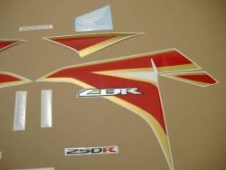 Honda 250r 2012 white restoration decals