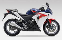 Honda CBR 250R 2012 white decals kit