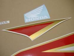 Honda 250r 2012 white restoration stickers