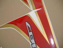 Honda cbr 250r 2012 white full decals kit