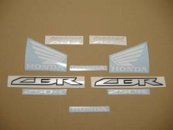 Honda CBR 250R 2011 red reproduction stickers
