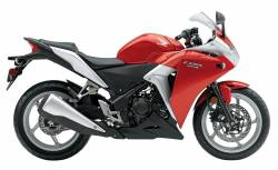 Honda CBR 250R 2011 red labels graphics
