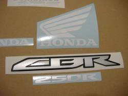 Honda CBR 250R 2011 red decals kit