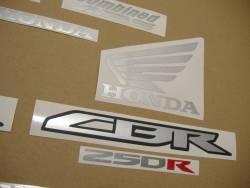 Honda 250R 2012 black stickers set