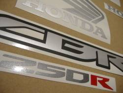 Honda CBR 250R 2012 black decals kit