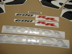 Honda CBR 600RR 2005 orange decals kit