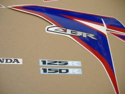 Honda 150R 2012 white logo graphics