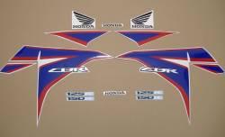Honda 150R 2012 white complete sticker kit