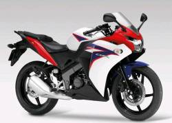 Honda 125R 2012 white complete sticker kit