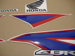Honda CBR 125R 2012 white reproduction stickers
