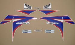 Honda CBR 125R 2012 white stickers kit