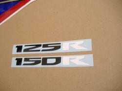 Honda 125R 2012 white logo graphics