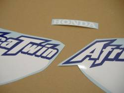 Honda XRV 750 2002 blue decals kit