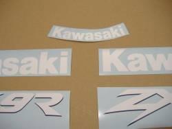 Kawasaki ZX9R 1999 green labels graphics
