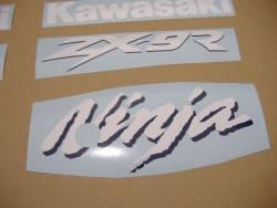 Kawasaki ZX9R 1999 Ninja green stickers