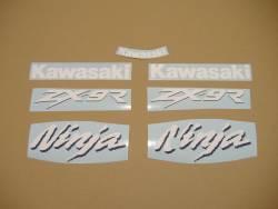 Kawasaki ZX9R 1999 Ninja green stickers kit