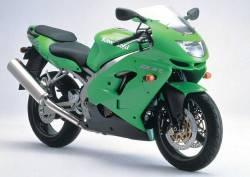 Kawasaki ZX9R 1999 Ninja green decals kit