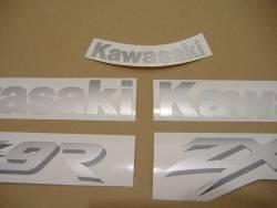 Kawasaki ZX-9R 1999 black adhesives set