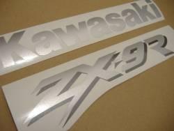 Kawasaki ZX 9R 1999 black stickers kit