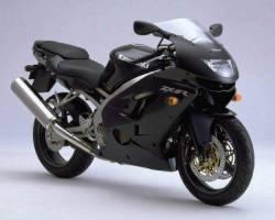 Kawasaki ZX 9R 1999 black full decals kit