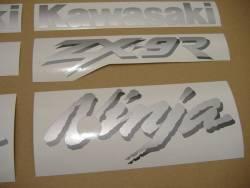 Kawasaki ZX 9R 1999 black full stickers set