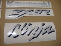 Kawasaki ZX9R 1998 Ninja blue stickers