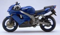 Kawasaki ZX9R 1998 Ninja blue decals kit