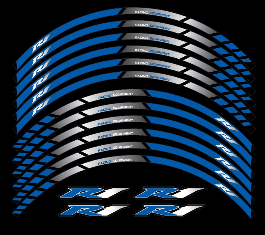 Yamaha Yzf R1 Wheel Rim Lines Stripes And Decals Sticker