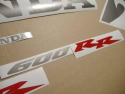 Honda CBR 600RR 2005 black decals kit