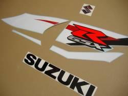 Suzuki GSX-R 1000 2012 white blue graphics set
