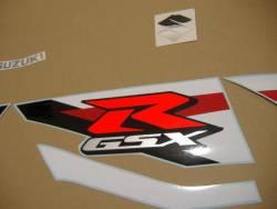 Suzuki gsx-r 1000 2012 white blue logo emblems set
