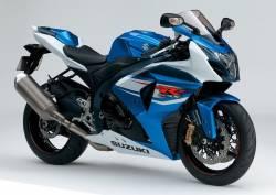 Suzuki GSX-R 1000 2012 white blue decal kit