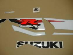 Suzuki GSX-R 1000 2012 white blue adhesives set