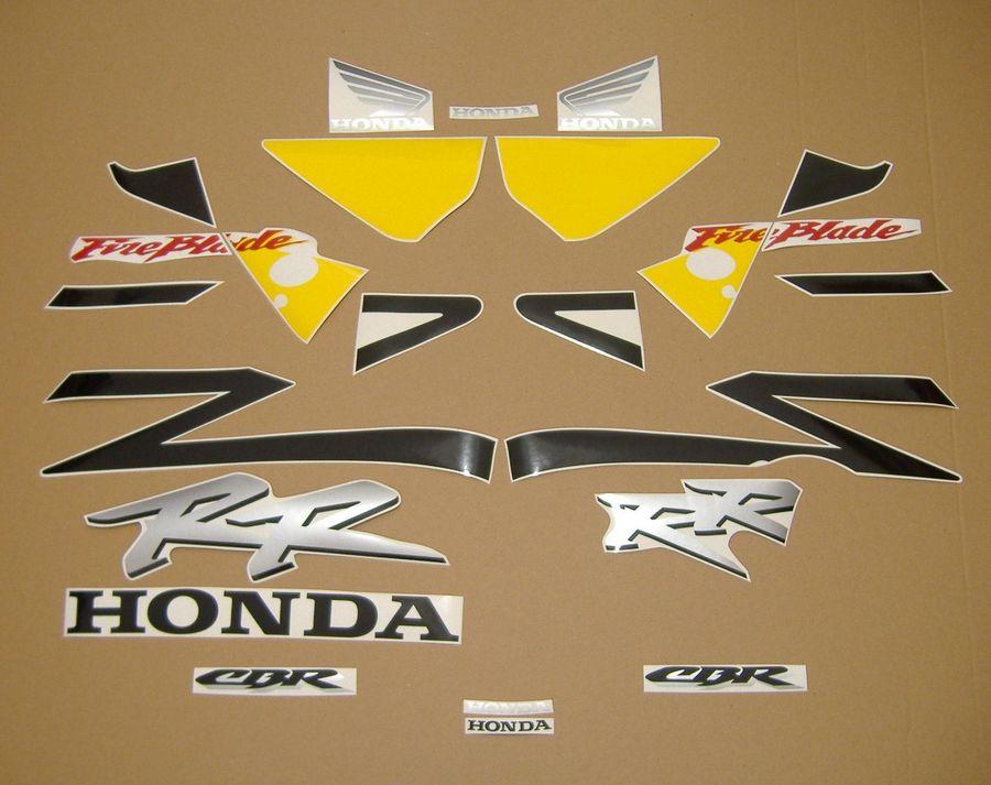 Honda CBR 954RR Fireblade 2003 decals set - yellow/black version - Moto-Sticker.com