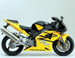 Honda cbr 954rr 2003 sc50 yellow decals