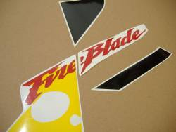 Honda 954RR 2003 yellow complete sticker kit