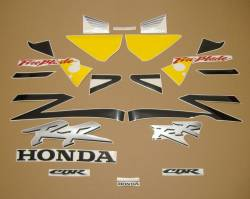 Honda CBR 954RR SC50 2003 yellow decals kit