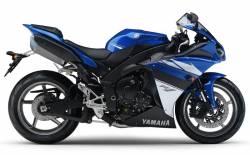 Yamaha YZF R1 2010 RN22 blue decals set