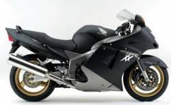 Honda 1100XX 2003 black reproduction stickers