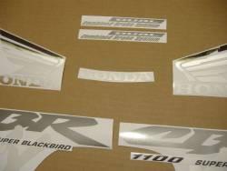 Honda CBR 1100XX 2003 black stickers kit