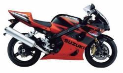 Suzuki gsxr 1000 2004 k3 orange black graphics