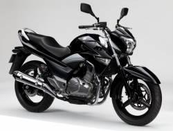 Suzuki GW250 2014 black decals kit