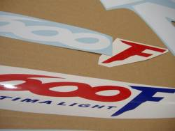 Honda 600 F4 2000 red stickers set