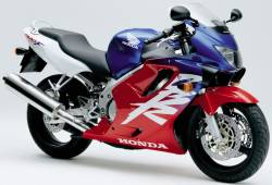 Honda CBR 600 F4 2000 red decals kit