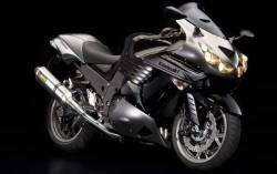 Kawasaki ZZR 1400 2010 Ninja black decals kit
