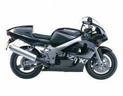 Suzuki GSX-R 600 1999 black decals kit